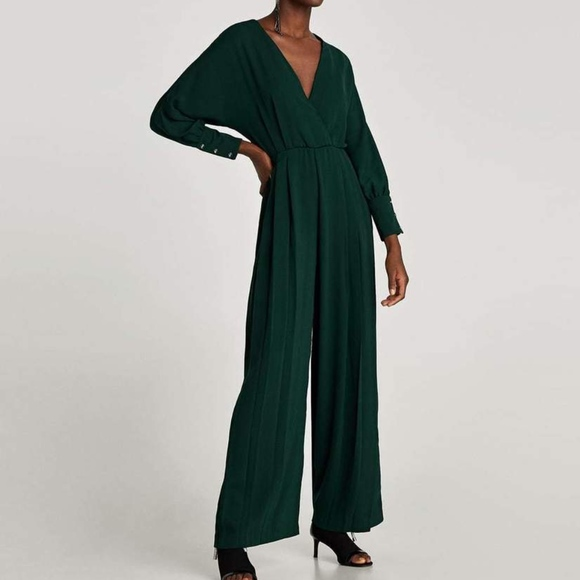 69338dfde5f Zara Emerald Green Jumpsuit Clearance Final